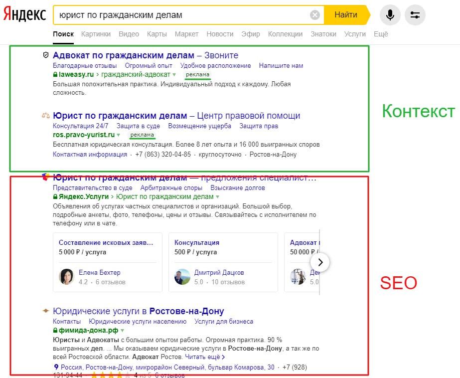 настройка контекстной рекламы в Ростове